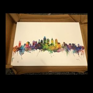 Philadelphia Skyline Art Painting Canvas